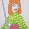 "Chris Warrington Judith (Strawberry, Sweater and Sword) 2010 Acrylic paint on canvas 30"" x 40"""